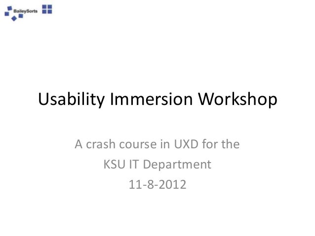 Usability Workshop, 11-8-2012