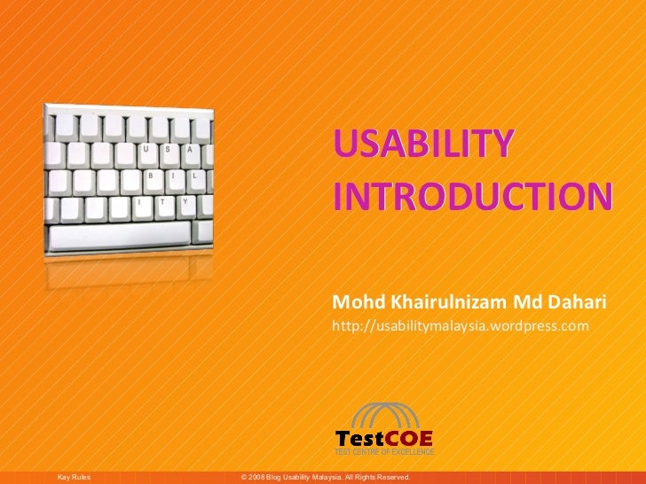 Usability Introduction slide