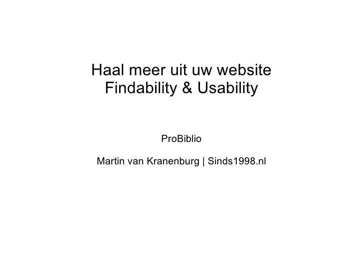 Usability Martin van Kranenburg