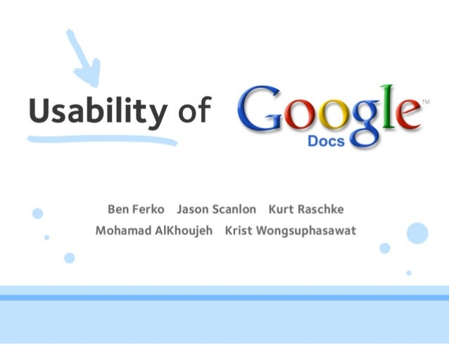 Usability of Google Docs