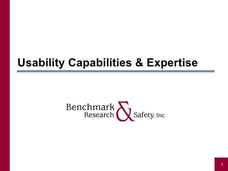 Usability Capabilities & Expertise