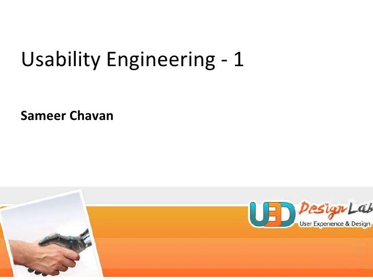 Usability Engineering - 1 Sameer Chavan