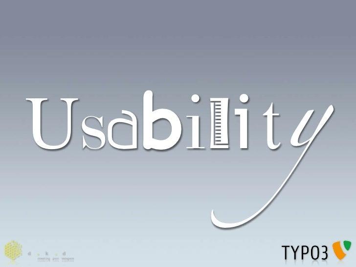Usabili!y