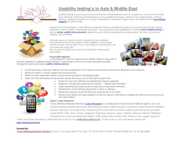 Usability Testing Support in Asian & Middle Eastern Countries