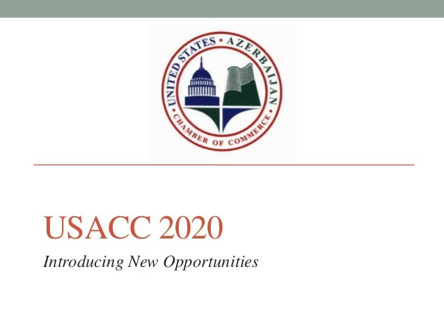 USACC 2020Introducing New Opportunities