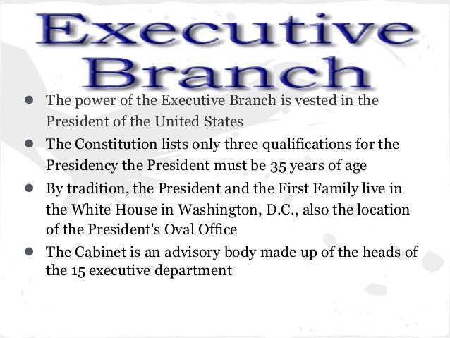 the power of the executive branch of the government Legislative branch of government: definition, power & function  constitution created and empowered our executive branch of government the united states president leads the executive branch .