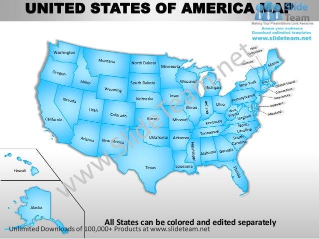 UNITED STATES OF AMERICA MAP                  Washington                                      North Dakota                ...