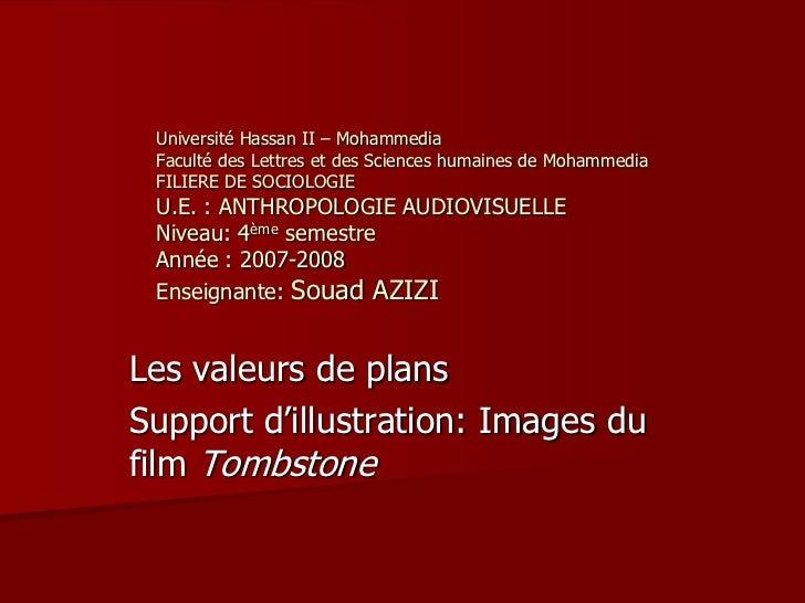 Université Hassan II – Mohammedia Faculté des Lettres et des Sciences humaines de Mohammedia FILIERE DE SOCIOLOGIE U.E. : ...