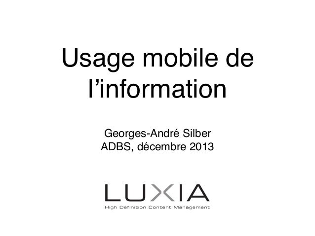 "Usage mobile de l'information. ""5 à 7 ADBS"", 4 décembre 2012"