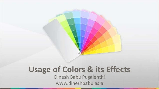 Usage of Colors & Its Effects in Design - An Overview