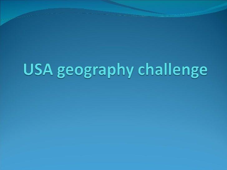 Usa Geography Quiz