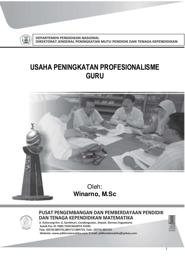 Usaha peningkatan profesionalisme guru(1)
