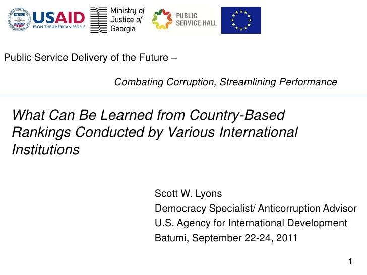 Public Service Delivery of the Future –                        Combating Corruption, Streamlining Performance What Can Be ...