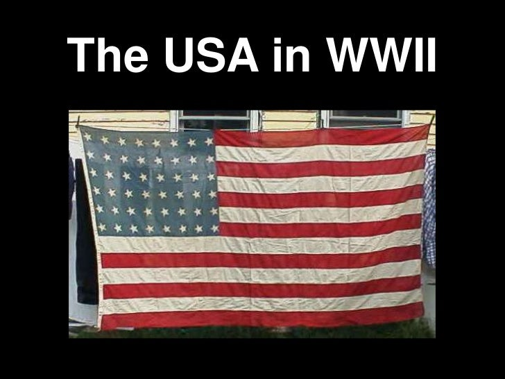 The USA in WWII