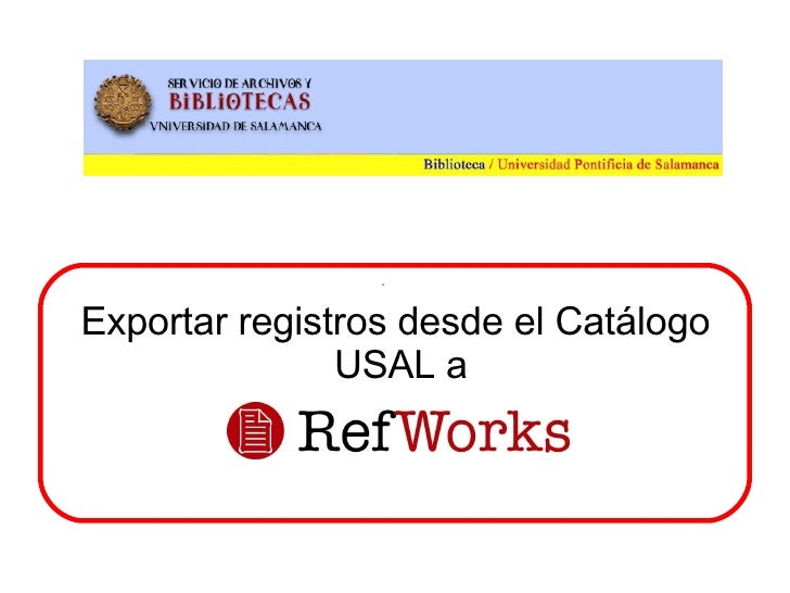 Descargar registros de Innopac RefWorks