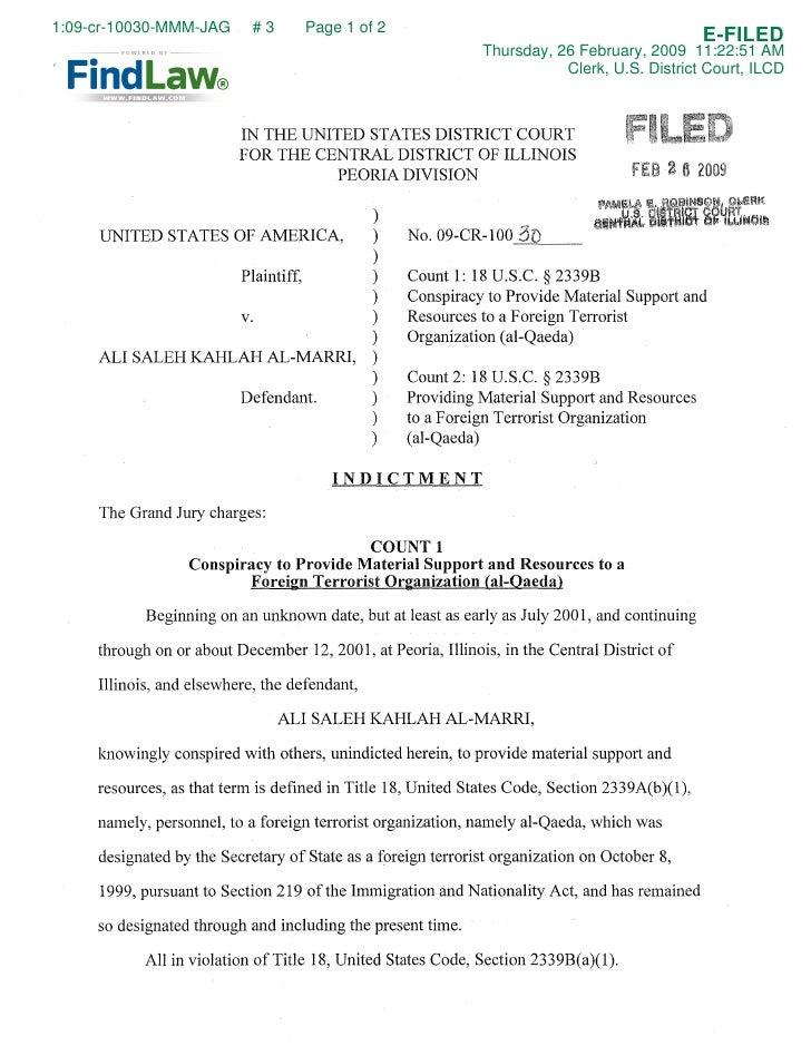 FindLaw | al-Marri Terror Indictment