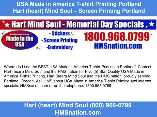 Usa made in america t shirt printing portland for Portland t shirt printing