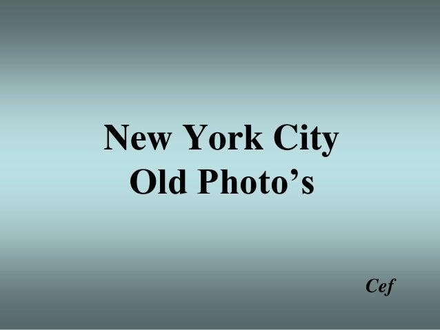 Usa new york old photo's
