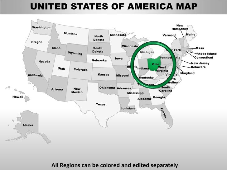 Usa ohio state powerpoint county editable ppt maps and templates