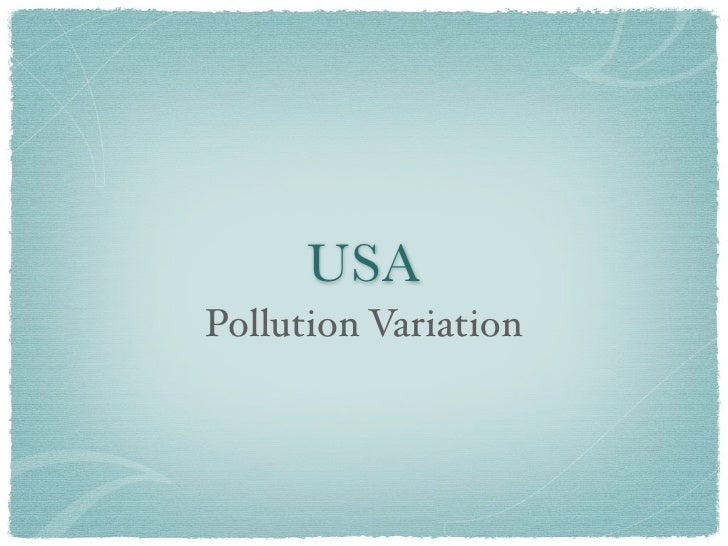 USA Pollution