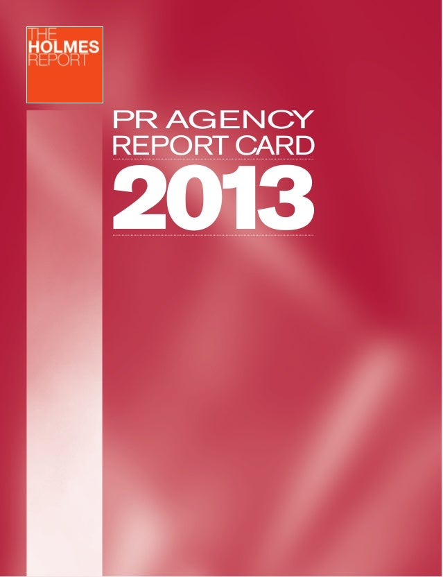 PR AGENCY  REPORT CARD  2013