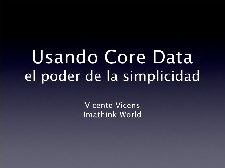 Core Data en Mac OS X