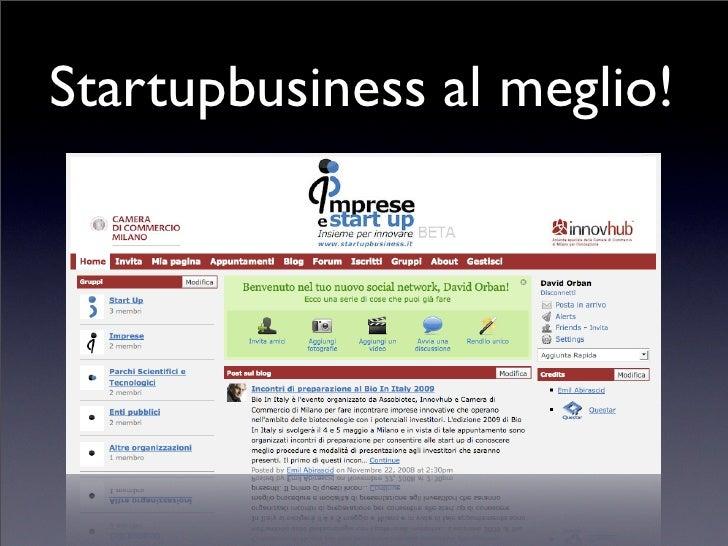 Startupbusiness al meglio!