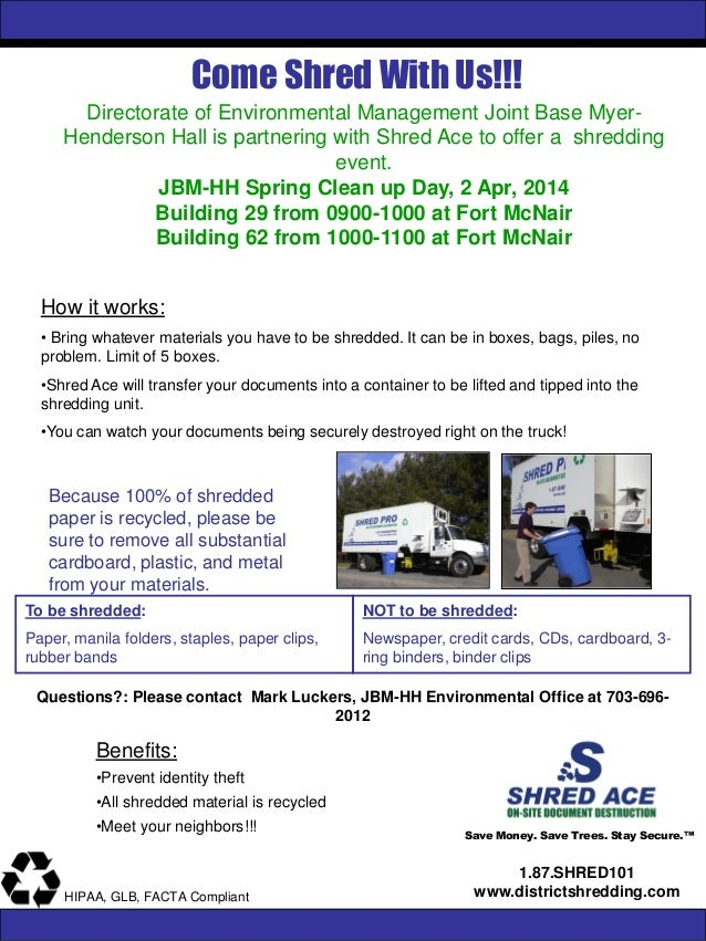JBM-HH Shredding Event April 2, 2014
