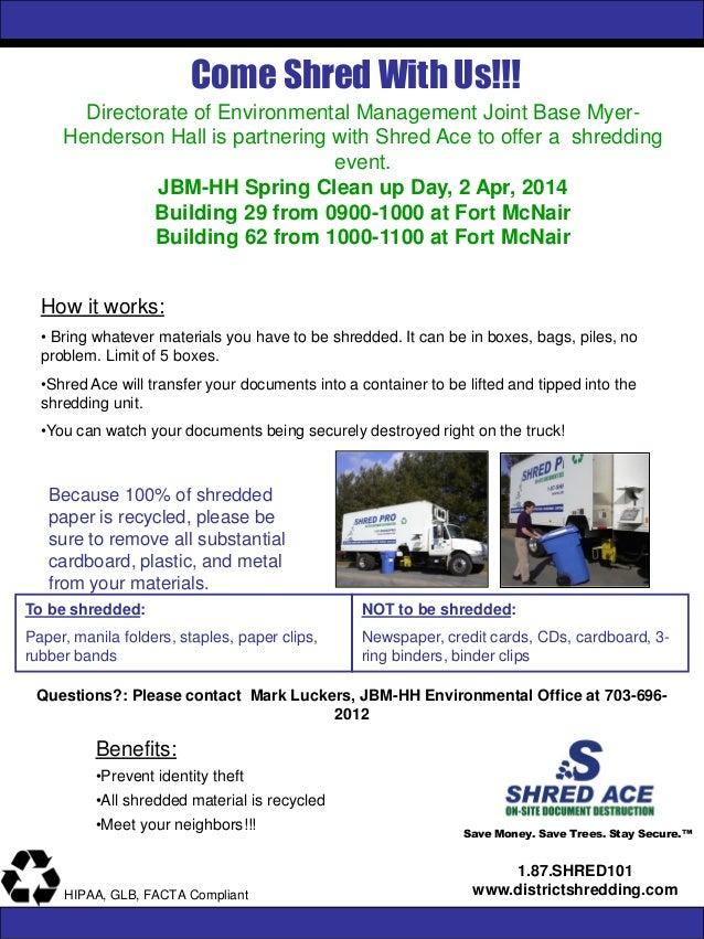 JBM-HH Shredding Event April 2, 2014