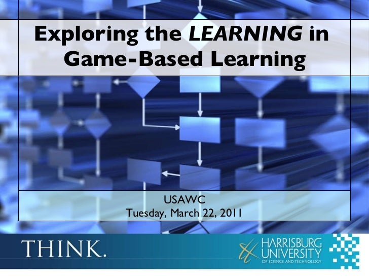 Exploring the  LEARNING  in  Game-Based Learning USAWC Tuesday, March 22, 2011