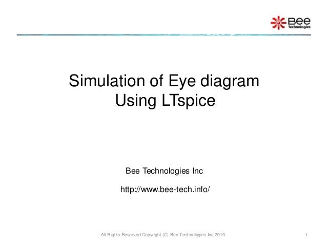 Simulation of Eye diagram Using LTspice Bee Technologies Inc http://www.bee-tech.info/ 1All Rights Reserved Copyright (C) ...