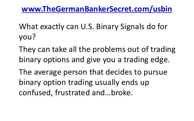 How to use binary option trading signals