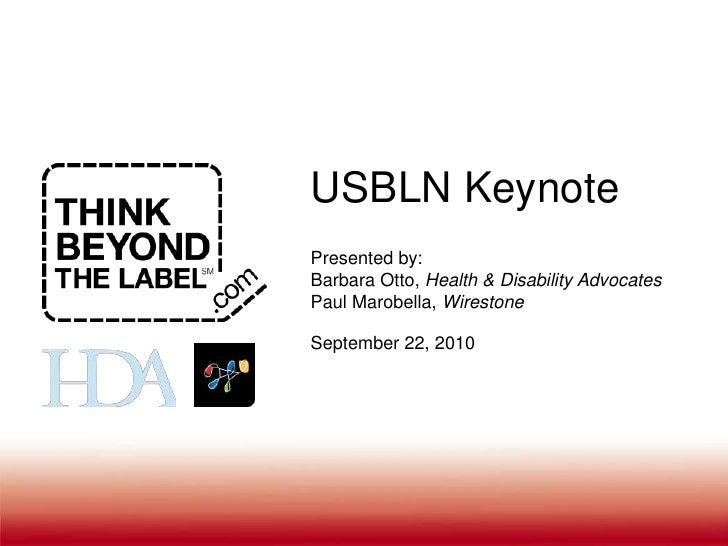 Think Beyond The Label & Wirestone Keynote at USBLN