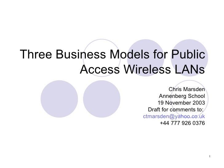WiFi - 3 case studies in commercial deployment