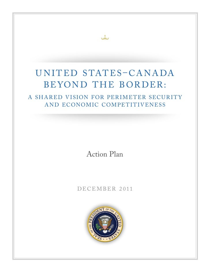 United States & Canada A Shared Vision   Economic Competitiveness