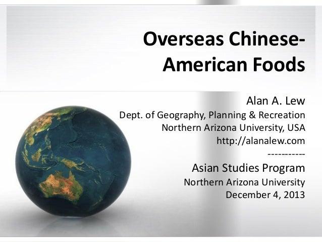 Overseas Chinese American Diaspora Foods