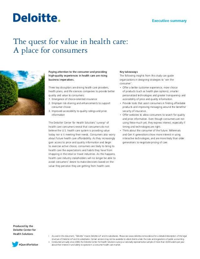 Quest for Value Deloitte