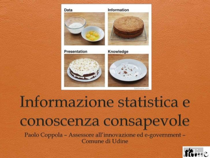 Informazione statistica e conoscenza consapevole