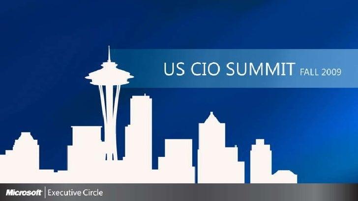 Consumerization of IT<br />Dr. Joseph Williams<br />Chief Technology Officer – Enterprise & Partner Sales<br />Microsoft C...