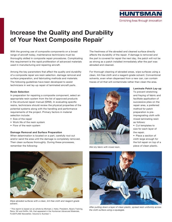 Increase the Quality and Durabilityof Your Next Composite Repair*With the growing use of composite components on a broad  ...