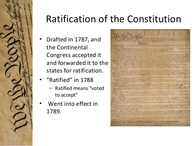 the debates about the ratification of the us constitution The major debates at the constitutional convention in february 1787, congress decided that a convention should be convened to revise the articles of confederation, the nation's first constitution in may, 55 delegates came to philadelphia, and the constitutional convention began.