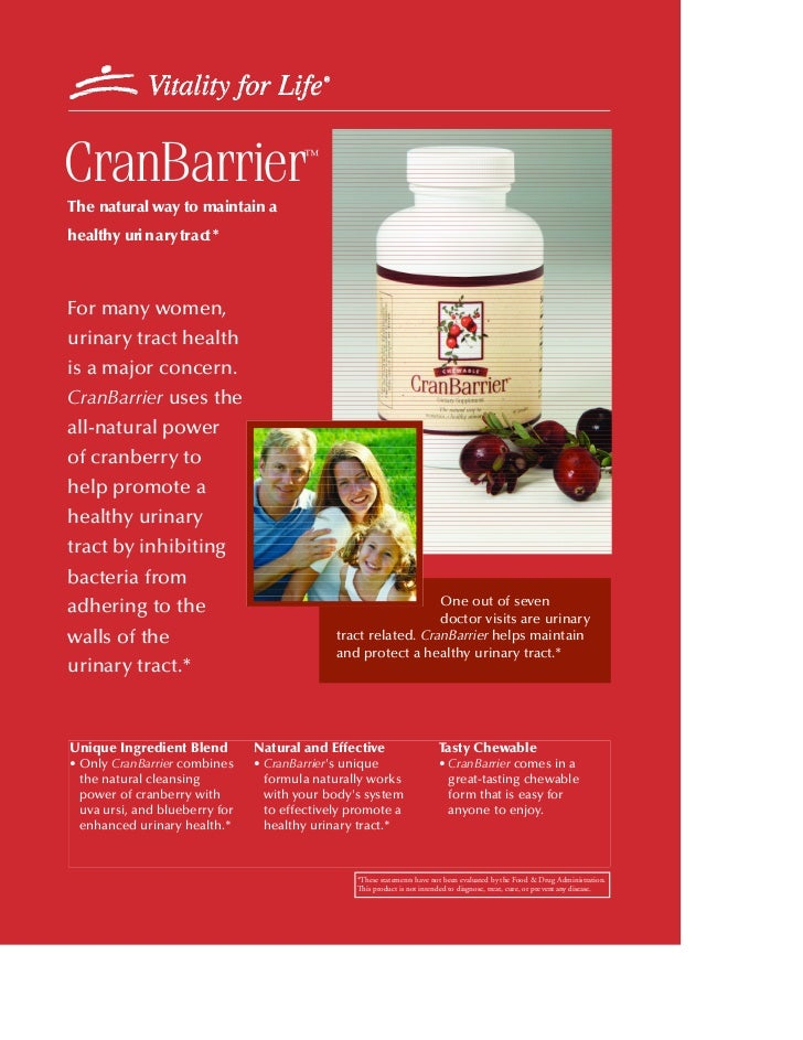 CranBarrier                             ™The natural way to maintain ahealthy uri n a ry tra ct *For many women,urinary tr...