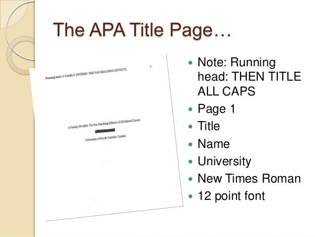 term paper cover page apa style