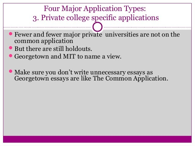 College application essay seminar