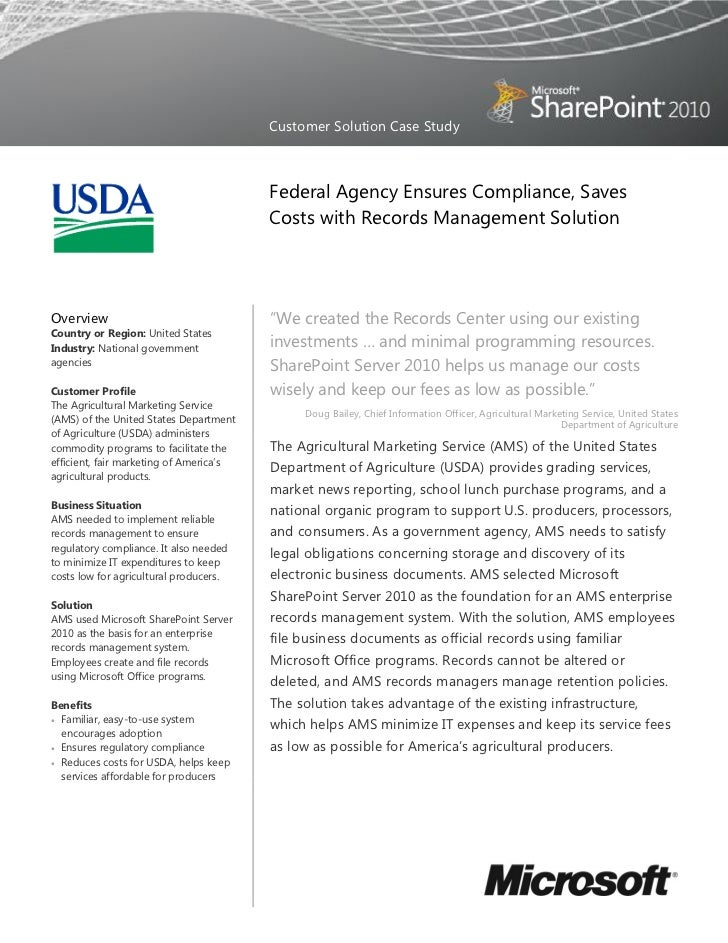 Customer Solution Case Study                                         Federal Agency Ensures Compliance, Saves             ...