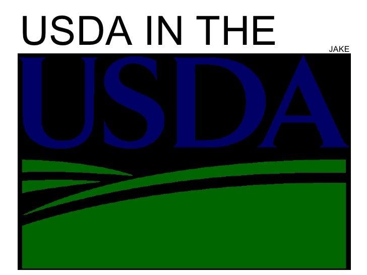 USDA in the USDA