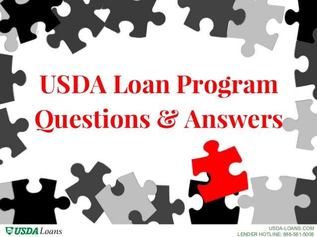Usda Loan Program Questions Answers Usda Loans Com