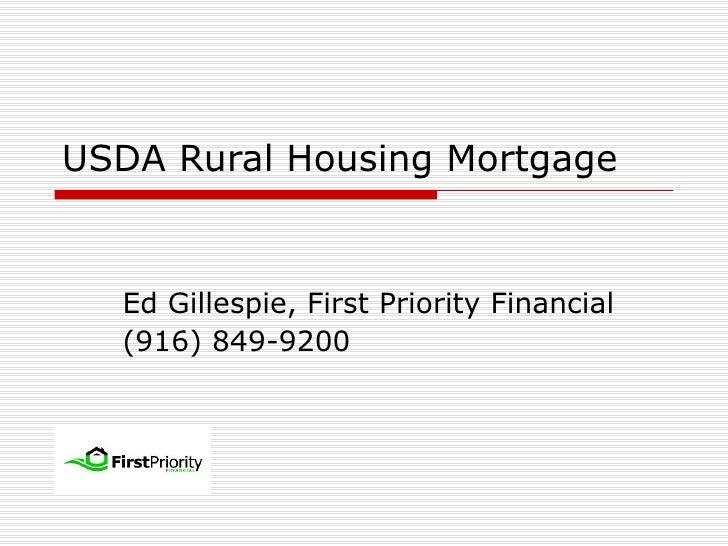 USDA Mortgage Presentation