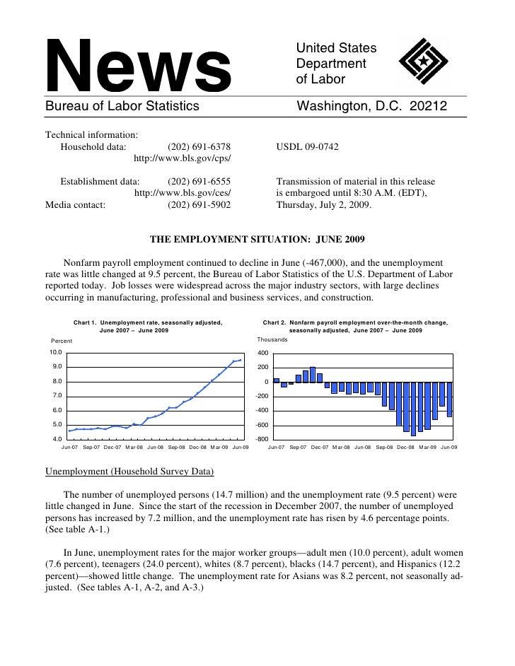 Us Department Of Labor Mass Layoffs June 2009