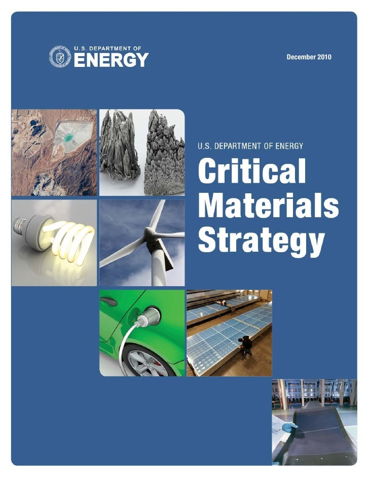 US Department of Energy: Critical Materials Strategy